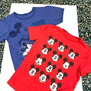 Gap Kids Disney Mickey Mouse Red Blue Cotton Tees